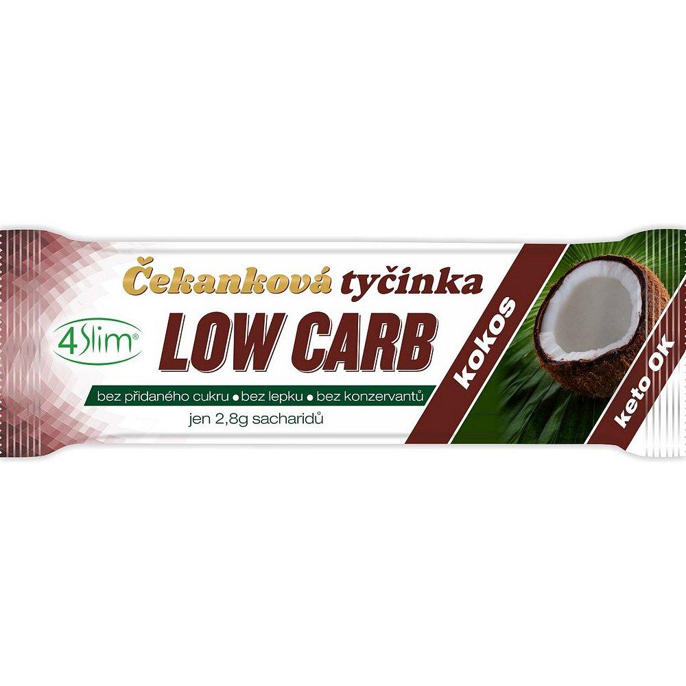 4SLIM Čekanková tyčinka Low Carb kokos 35 g