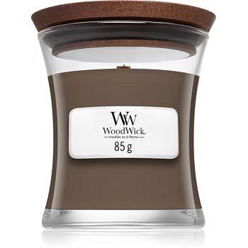 Woodwick Black Amber & Citrus vonná svíčka 85 g s dřevěným knotem