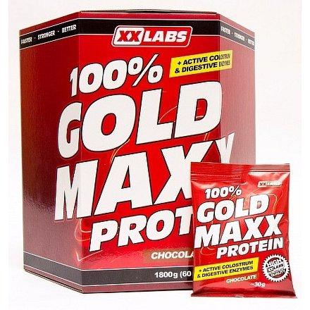 100% gold maxx protein – jahoda 1800 g (60 sáčků)
