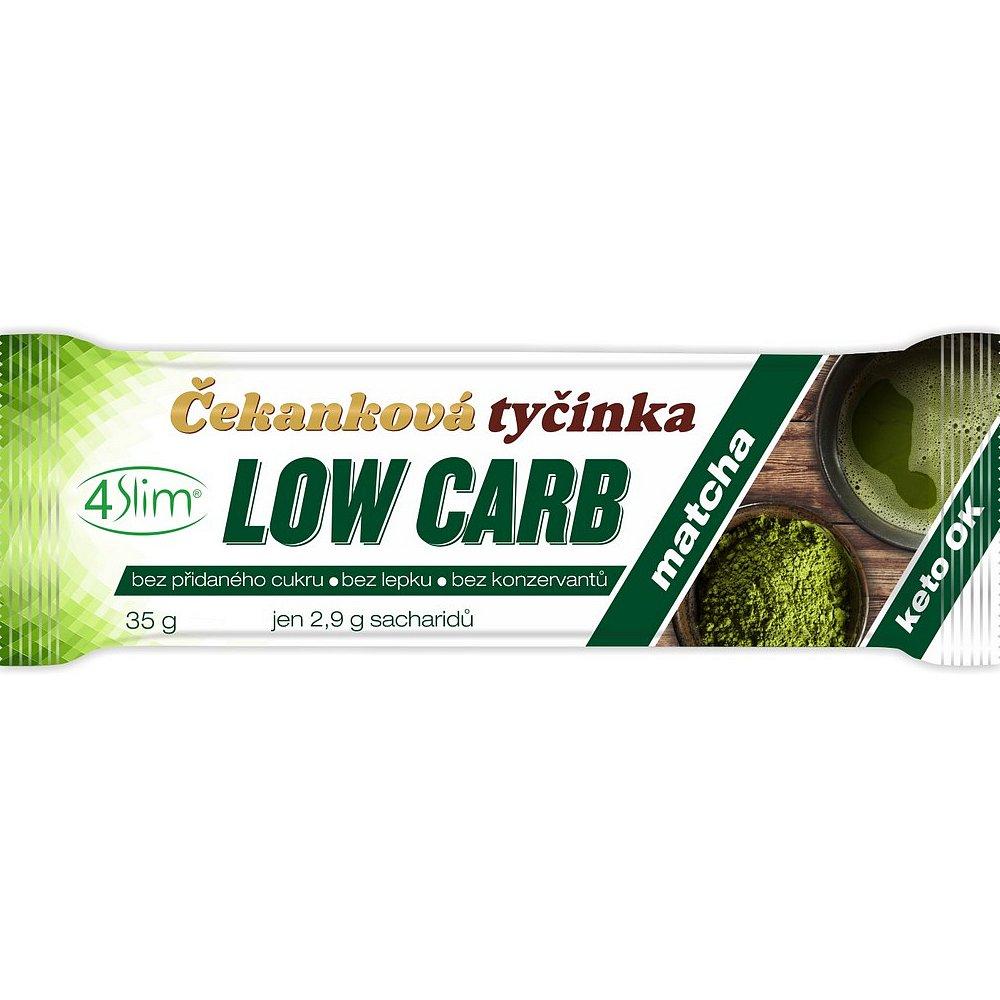 4SLIM Čekanková tyčinka Low Carb matcha 35 g