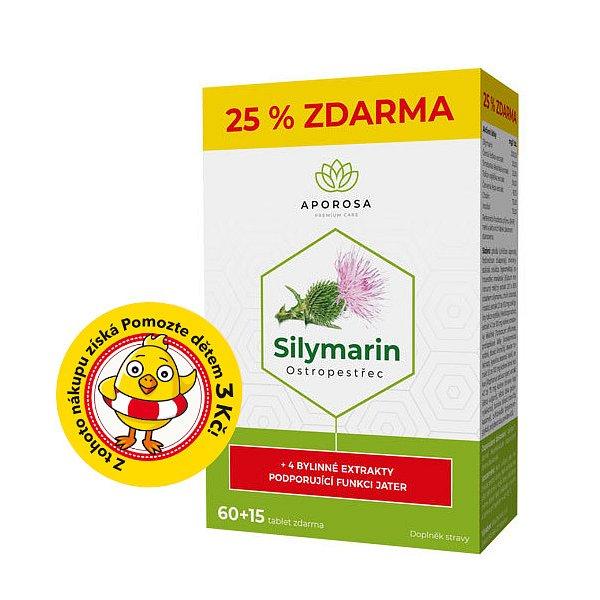 APOROSA Ostropestřec (Silymarin 200 mg) 75 tablet