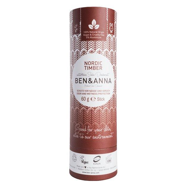 Ben & Anna Tuhý deodorant BIO Severské dřevo 60g