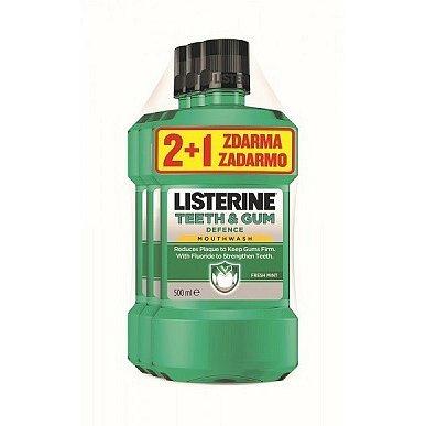 LISTERINE TEETH & GUM DEFENCE 500ml 2+1
