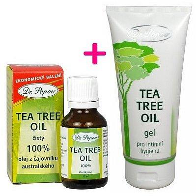 Dr.Popov Tea Tree oil 25 ml + Gel pro intimní hygienu ZDARMA*