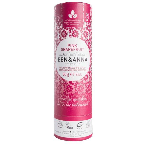 Ben & Anna Tuhý deodorant BIO Růžový grapefruit 60g
