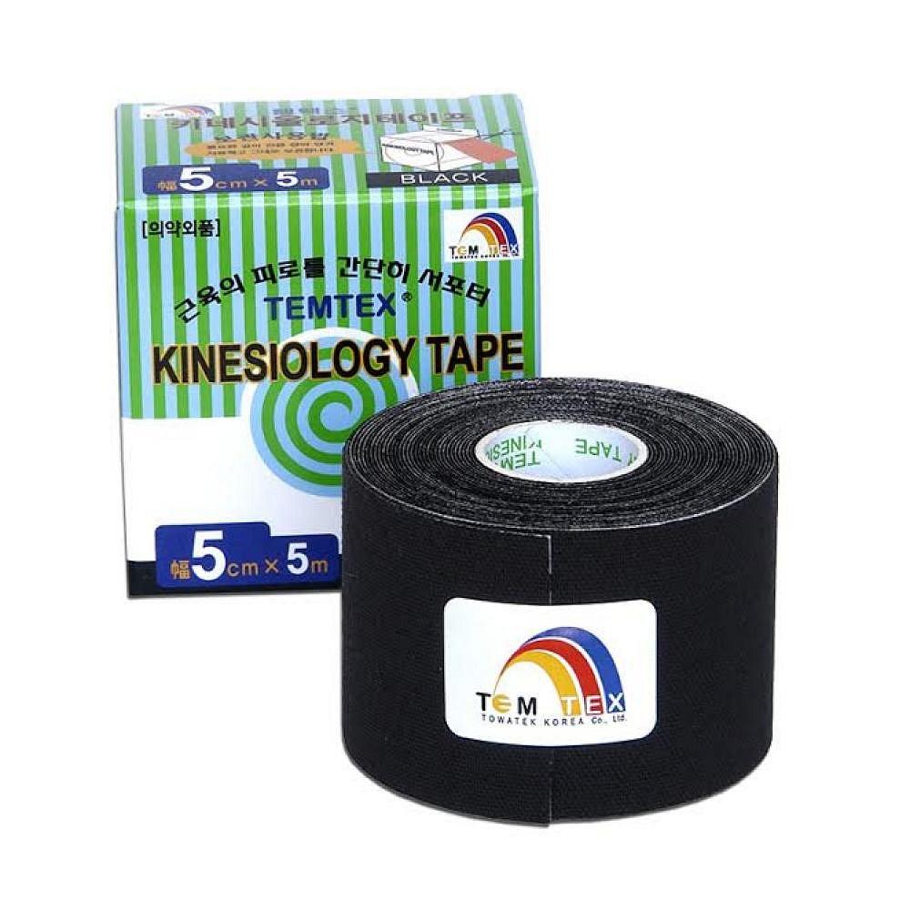 Tejp. TEMTEX kinesio tape černá 5cmx5m