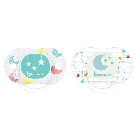 Badabulle dudlík LUMI REVERS Moon Star 0-6m 2ks