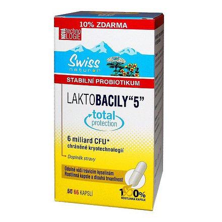 Swiss LAKTOBACILY 5 orální tobolky 66