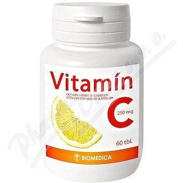 Vitamín C 250mg Biomedica 60 tablet