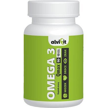 Alvifit Omega 3 Qmax 100 kapslí 1000mg