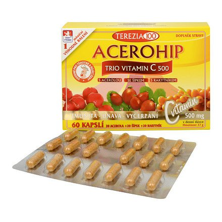 ACEROHIP TRIO Vitamin C 500 60 kapslí