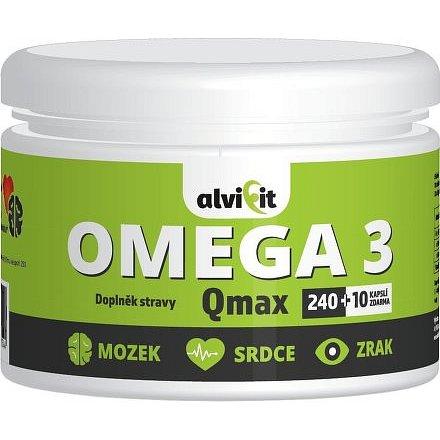 Alvifit Omega 3 Qmax 250 kapslí 1000mg