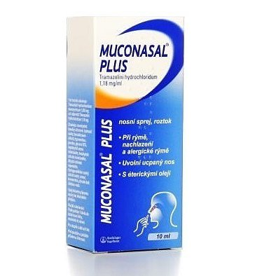 Muconasal Plus 1.18mg/ml nas.spr.sol.1x10ml