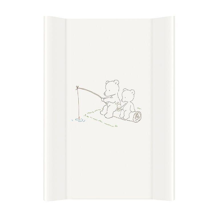CEBA Baby Přebalovací podložka MDF 70 cm Papa Bear, bílá