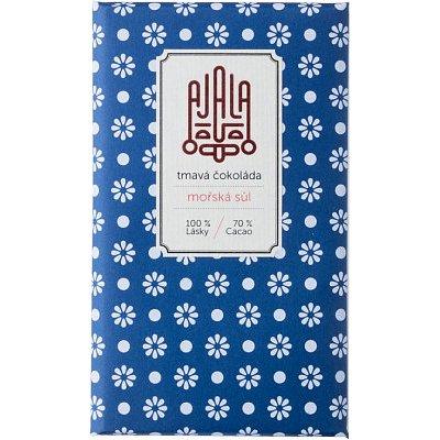 Ajala Bio čokoláda 70% s mořskou solí, výběrové boby 45g