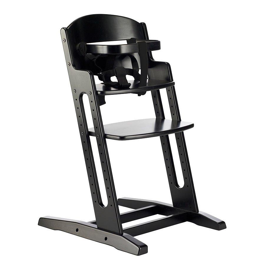 BABYDAN Dřevěná jídelní židlička DanChair, black