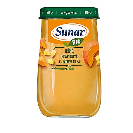Sunar BIO Příkrm Dýně a brambory 4m+ 190 g