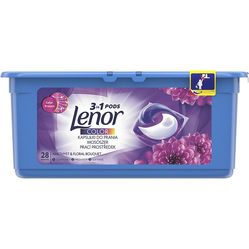 LENOR Amethyst Color 3v1 28 ks – kapsle na praní