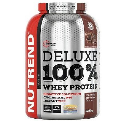 DELUXE 100% WHEY 2250 g čokoládové brownies