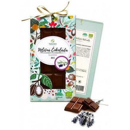 Naturalis BIO Mléčná Čokoláda s levandulí 80g