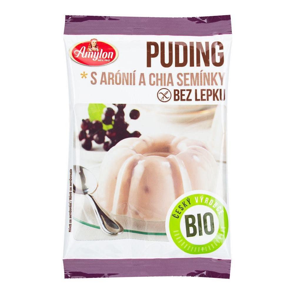 AMYLON Pudink s aronií a chia semínky bezlepkový 40 g