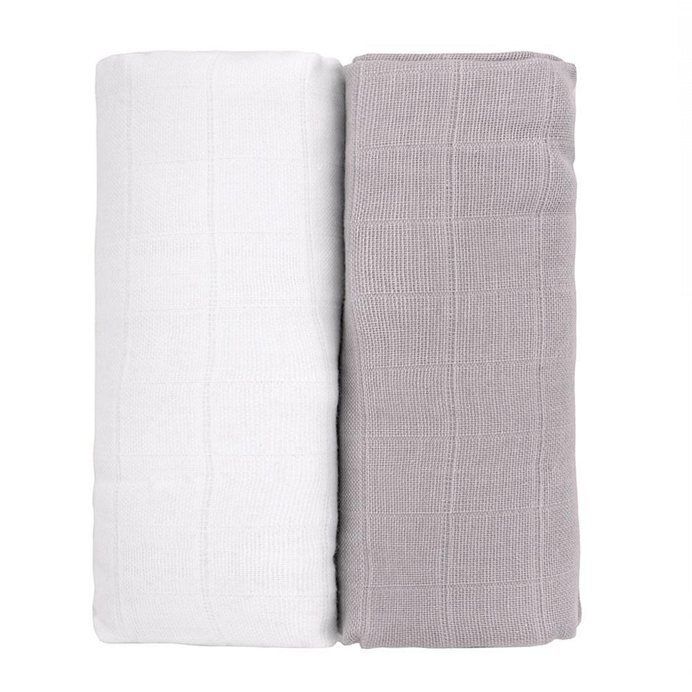 T-tomi Látkové TETRA osušky 2 ks white/grey