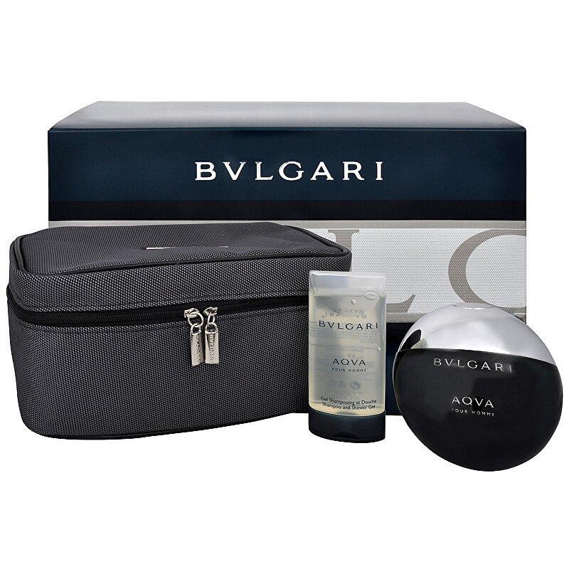 Bvlgari Aqva Pour Homme - toaletní voda s rozprašovačem 100 ml + sprchový gel 75 ml + kosmetická taška