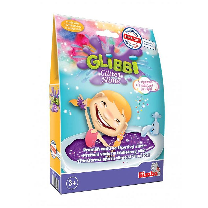 Glibbi Glitter Slime sliz fialový třpytivý, DP10