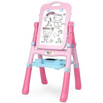 Toyz Oboustranná edukační tabule pink