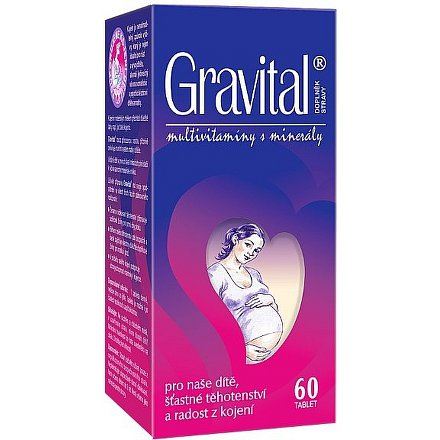 VitaHarmony Gravital tablety 60 pro těhot.a koj.ženy