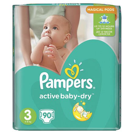 Pampers Active baby 3 midi 5 - 9 kg 90 kusů