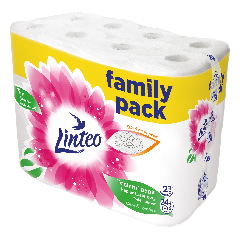 LINTEO Toaletní papír 2-vrstvý (24 ks) 19 m – bílý