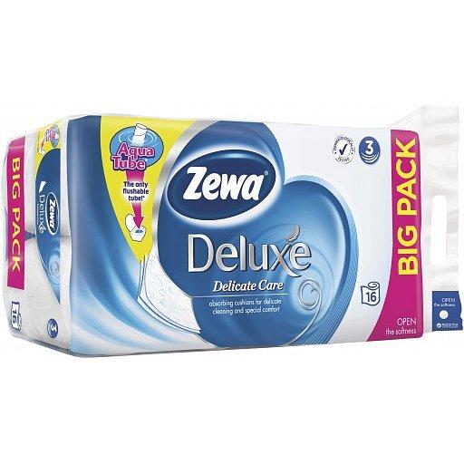 Zewa deluxe delicate care toaletní papír, bez parfemace, bílý - 3vrstvý 16x150