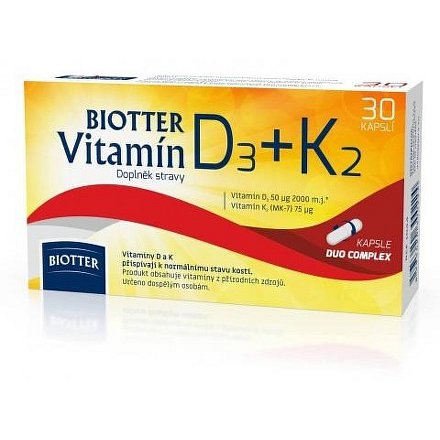 Biotter Vitamín D3+K2 doplněk stravy cps.30