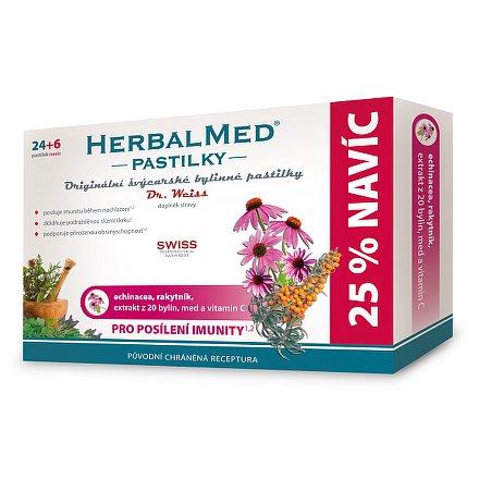 HerbalMed Dr.Weiss pastilky Echininacea-rakytník 24+6 ks