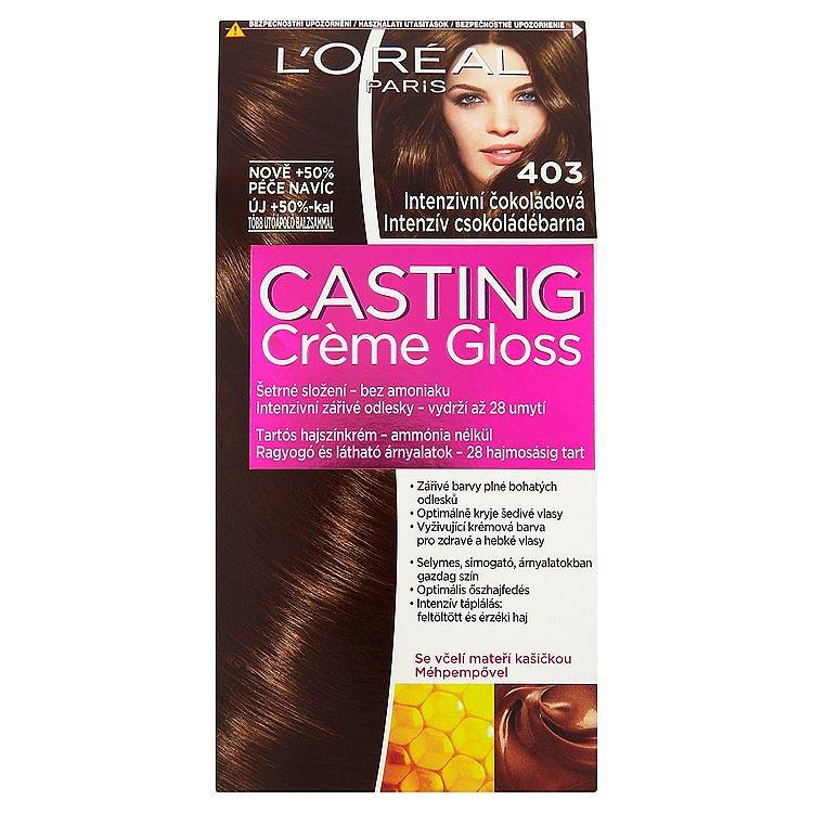 L'Oréal Paris Casting Crème Gloss intenzivní čokoládová 403