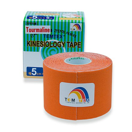 Tejp. TEMTEX kinesio tape Tourmaline oranžová 5cmx5m