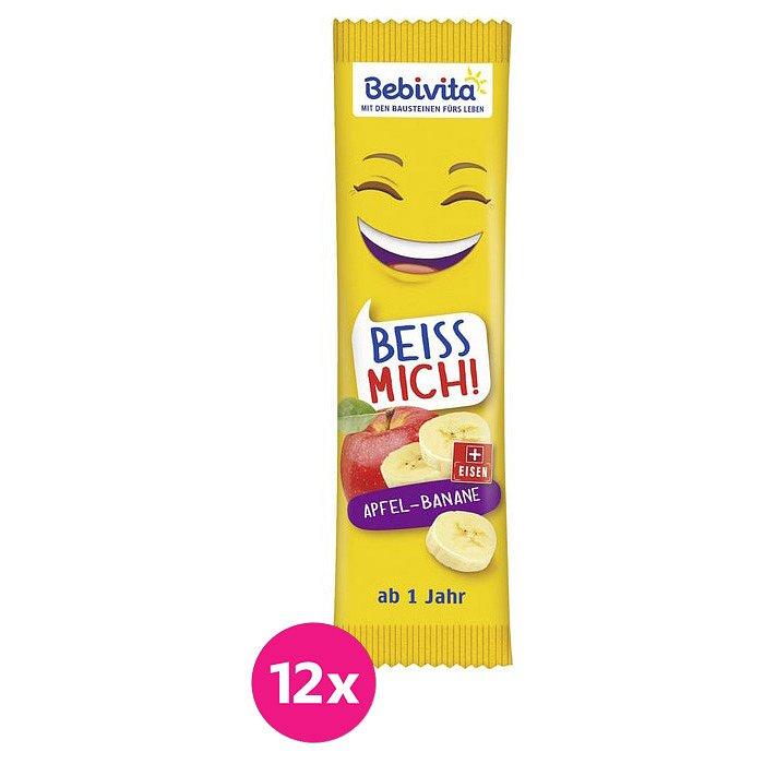 12x BEBIVITA Oplatka Jablko-Banán 25 g