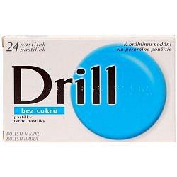 Drill Bez Cukru Pastilky orální pastilky 24