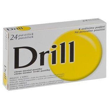 Drill Citron Mentol Pastilky orální pastilky 24