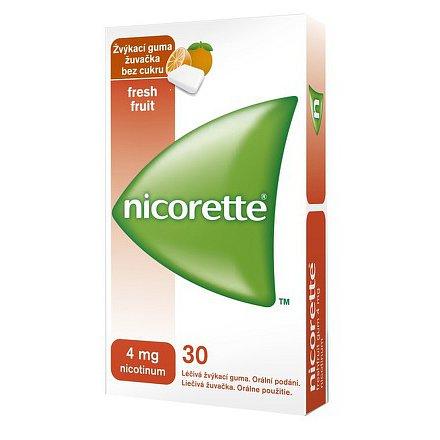 Nicorette FreshFruit Gum 4 mg léčivá žvýkací guma 30