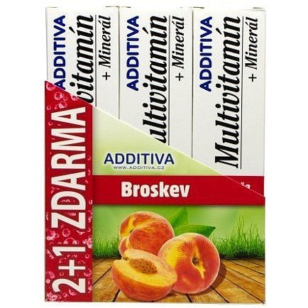 Sada Additiva MM 2+1 broskev šumivé tbl.3x20ks