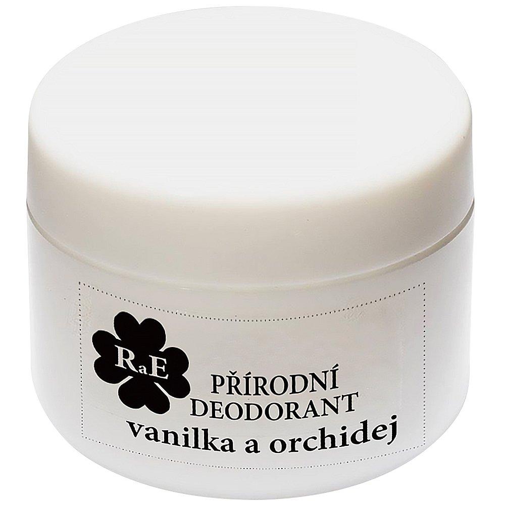 RAE Přírodní krémový deodorant vanilka orchidej plastový kelímek 15 ml