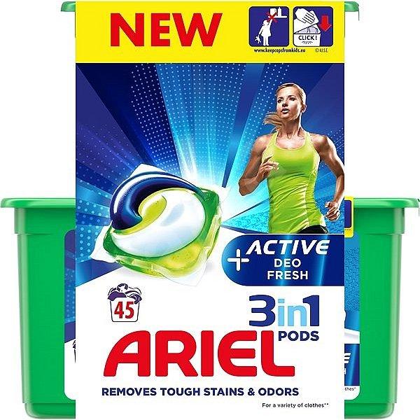 ARIEL Gelové kapsle Active Sport 3in1 45 ks
