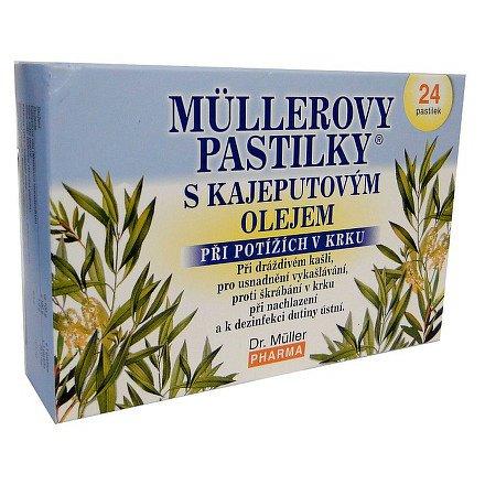 Müllerovy pastilky s kajeputovým olejem 24ks