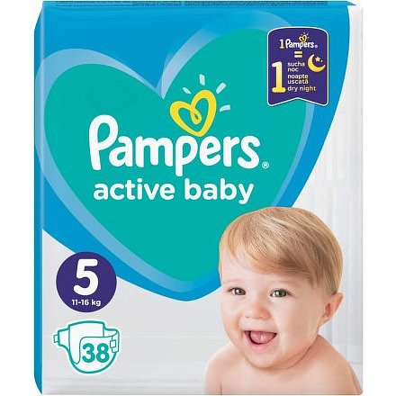 Pampers Active Baby Value Pack Minus S5 38ks