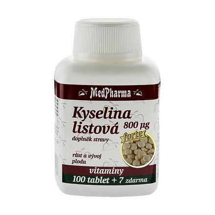 MedPharma Kyselina listová 800 mcg tablety 107