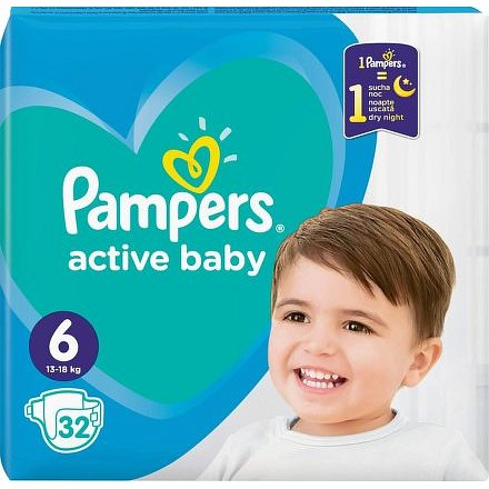 Pampers Active Baby Value Pack Minus S6 32ks