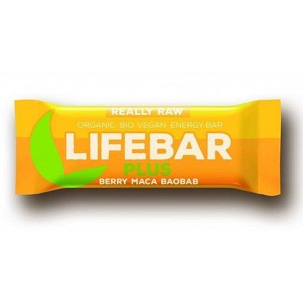 Lifebar plus třešňová s macou a baobabem BIO 47 g Lifefood