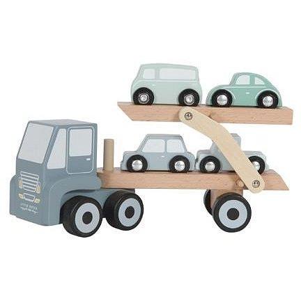 Náklaďák + 4 autíčka